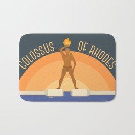 World Wonder: Colossus of Rhodes Bath Mat