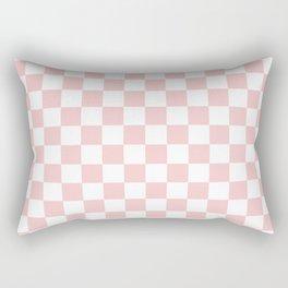 Gingham Pink Blush Rose Quartz Checked Pattern Rectangular Pillow
