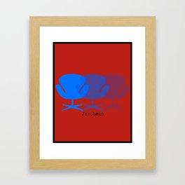 Jacobsen in Turquoise Framed Art Print