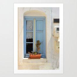 The Light Blue Window, Milos Art Print