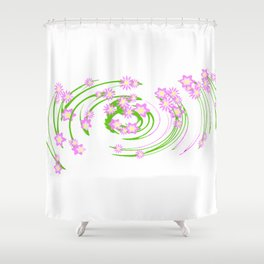 Flower burst Shower Curtain