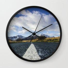 Road To Snowdon Wall Clock