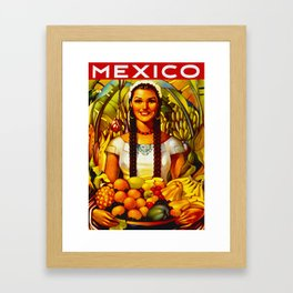 Vintage Bountiful Mexico Travel Framed Art Print