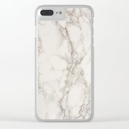 Simple Marble Clear iPhone Case