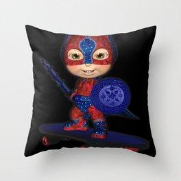 The Masked Avenger .. fantasy art  Throw Pillow