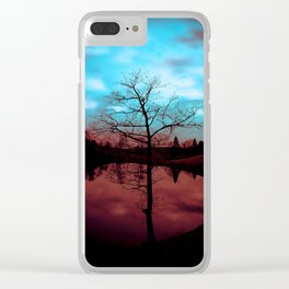 Good & Evil Clear iPhone Case