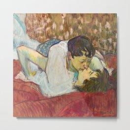 """Henri de Toulouse-Lautrec """"In Bed. The Kiss"""" Metal Print"""