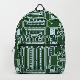 Computer Geek Circuit Board Pattern Backpack