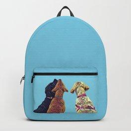 Three Amigos I in aqua Backpack