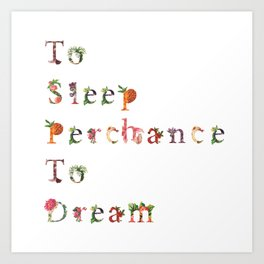 To Sleep Perchance To Dream poster Art Print