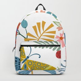 Cute, Colorful, Butterfly and Floral Garden Backpack