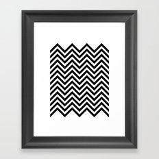 Black Lodge Zig Zag Framed Art Print