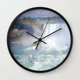 Rainbows and Mist Wall Clock