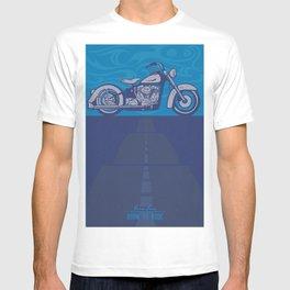 retro Harley poster Born Free Born to Ride T-shirt