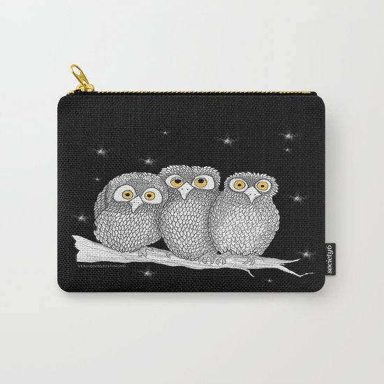 Zentangle Owl Friends at Night  Carry-All Pouch