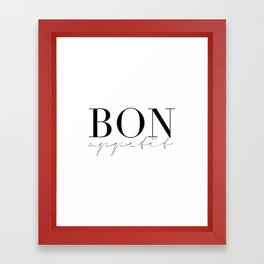 Bon Appetit,french Quote,Kitchen Sign,Kitchen Wall Art,Home Decor,Quote Prints,Typography Print Framed Art Print