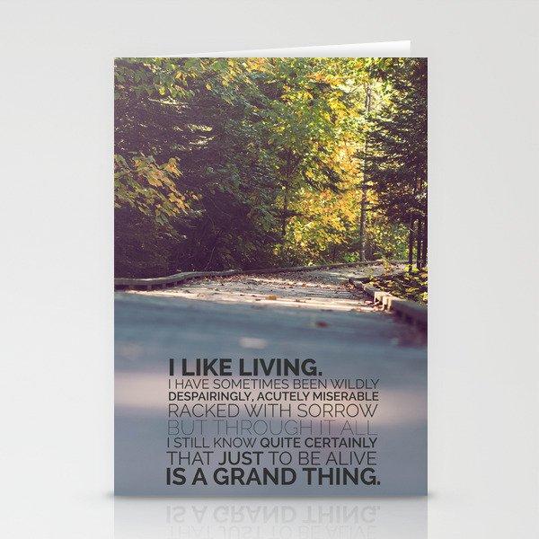 I like living - agatha christie Stationery Cards