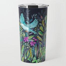 Little Garden Birds in Watercolor Travel Mug