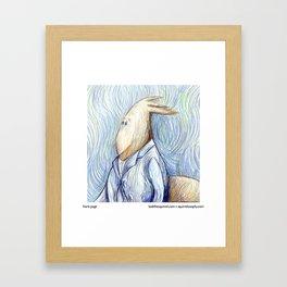 Squirrel Van Gogh Framed Art Print