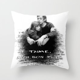 Je t'aime - Jane Birkin & Serge Gainsbourg Throw Pillow