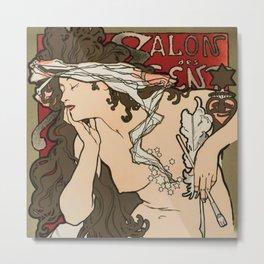 "Alphonse Mucha ""Salon des Cent (Salon of the Hundred)"", 1896 Metal Print"