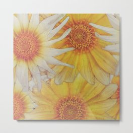 Tarnished Yellow Flowers Metal Print