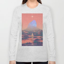 Lost Astronaut Series #02 - Giant Crystal Long Sleeve T-shirt