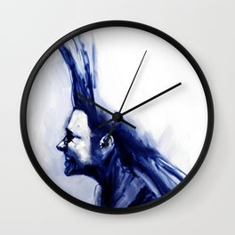 Blue Hawk Wall Clock