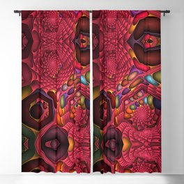 Winter cheer abstract Blackout Curtain