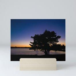 Silhouette Sunset Mini Art Print