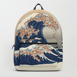 The Great Wave of Chihuahua Backpack