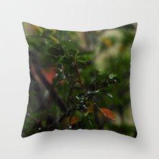 Rain // Leaves Throw Pillow