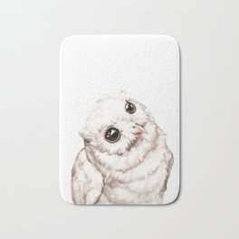 Baby Snowy Owl Bath Mat