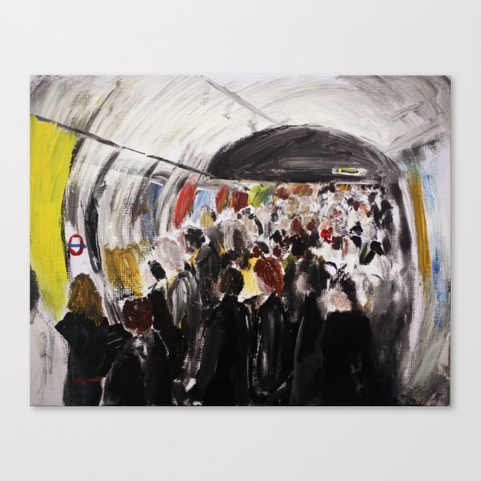 London Underground Subway Going To Work Part 2 Canvas Print