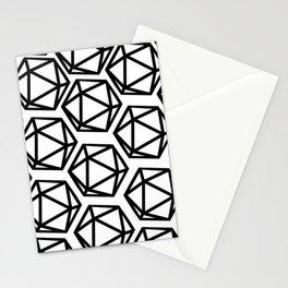 D20 Pattern Large Stationery Cards