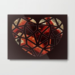 Broken Up Metal Print