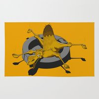 camel Area & Throw Rugs featuring Camel by 2mzdesign