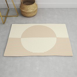 Geometric lines in Shades of Coffee and Latte 3 Rug