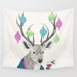 Mr. Deer gets festive  Wall Tapestry