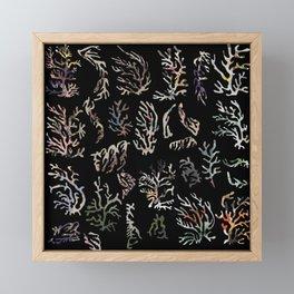 paper corals Framed Mini Art Print