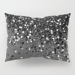 Dark Gray Black Lady Glitter #1 #shiny #decor #art #society6 Pillow Sham