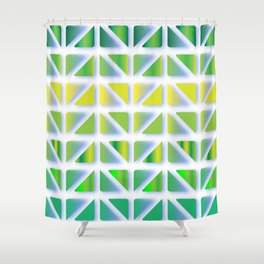 Geometric Forest Shower Curtain