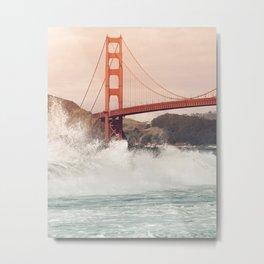 Golden Gate Bridge on a windy day Metal Print