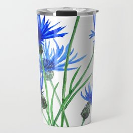 blue cornflower Travel Mug