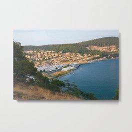 Anacortes Island Marina on Burrows Bay Metal Print