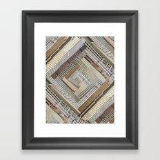 Skyscraper Quilt Framed Art Print