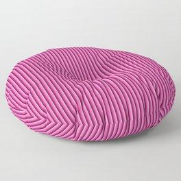 Pink stripes pattern Floor Pillow