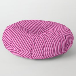Pink stripes pattern Floor Pillow