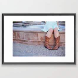 Cowgirl Boots Framed Art Print