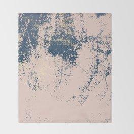 Patina pink navy gold Throw Blanket